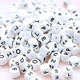Mamimami Home 60pc Cubo del alfabeto Grado de comida Cuentas de silicona en 26 letras BPA Gratis Silicona Masticación Rosario para Dentición Masticar Rosario