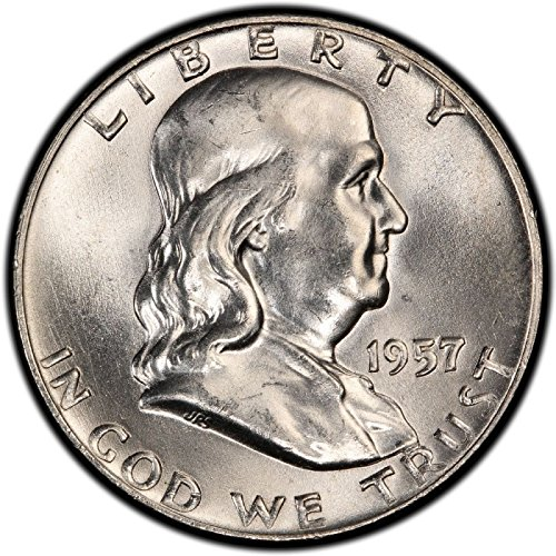 1957 Franklin Half Dollar Uncirculated US Mint