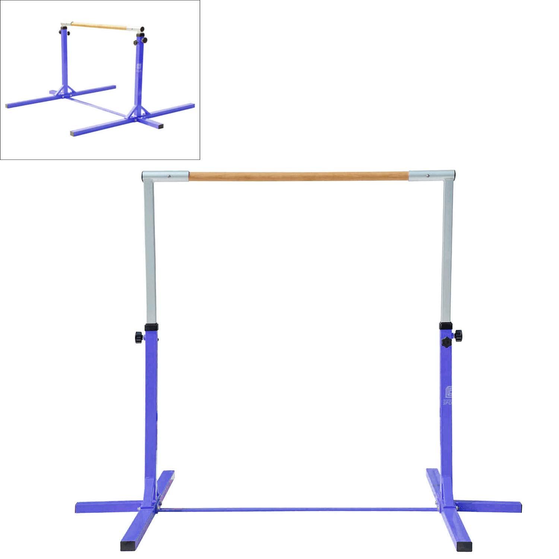 Modern-Depo Adjustable Height Kip Bar Pro | Junior Training Gymnastics Horizontal Bar Beech Wood - Purple