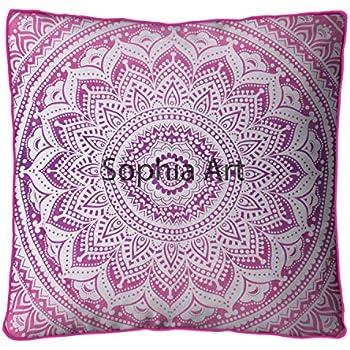 Amazon.com: Sofía Art - Cojín de meditación de tapiz rosa ...