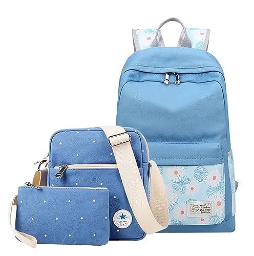 MingTai mochilas chica escolares comprar mochilas escolares Bolsos de las mujeres bookbags cartera del bolso La 3pcs: Amazon.es: Zapatos y complementos