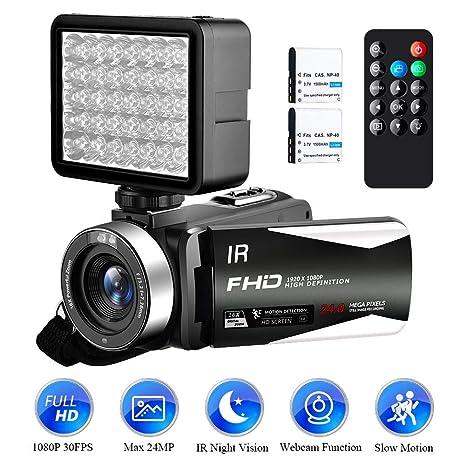 Videocámara Cámara de Video Full HD 1080P 30FPS Videocamara 24.0MP ...