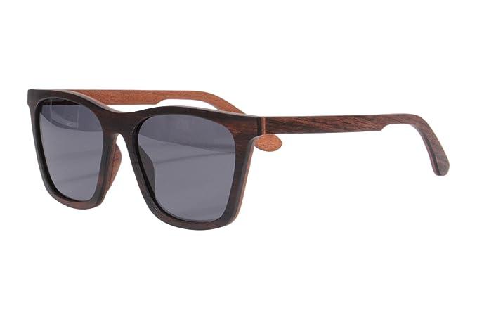 Amazon.com: SHINU Ébano y rojo Sándalo anteojos de sol ...