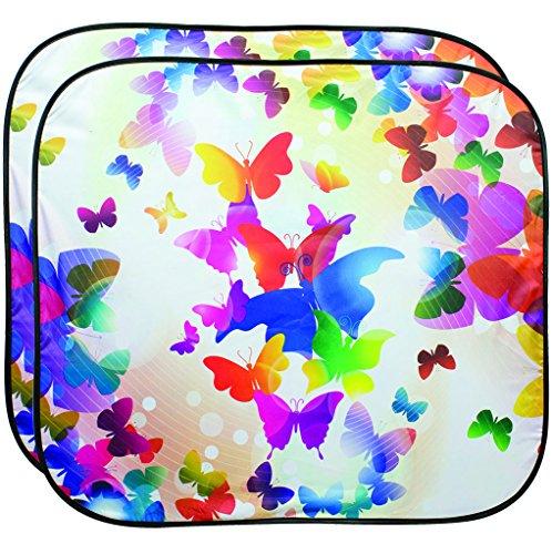 Custom Accessories 17264 Solar Shield Butterfly Spring Sunshade, 28.5 x 31.5-Inch