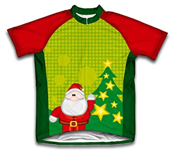 Christmas Santa Short Sleeve Cycling Jersey for Men  Amazon.co.uk ... 78666006c