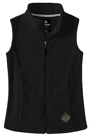 807447b2ed48a Wantdo Women's Polar Fleece Vest Full Zipper Softshell for Cycling Black S