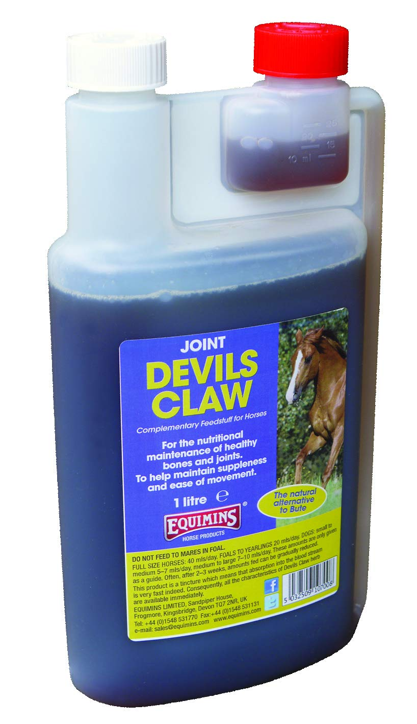 (1 LT) Equimins Horse Supplement Devils Claw 1 Litre Bottle