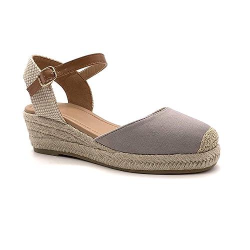 Schick Espadrilles 5 Damen Bequeme Angkorly Cm Mit Keilabsatz Basic Schuhe Stroh Sandalen Praktisch Handlich BdrxtshQC