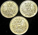 3 Coins %2D Austria World War I 1915 %28