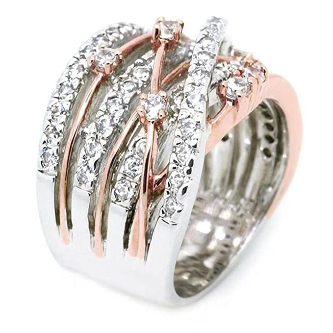 Amazon.com: Gyoume - Anillo elegante y exquisito con ...