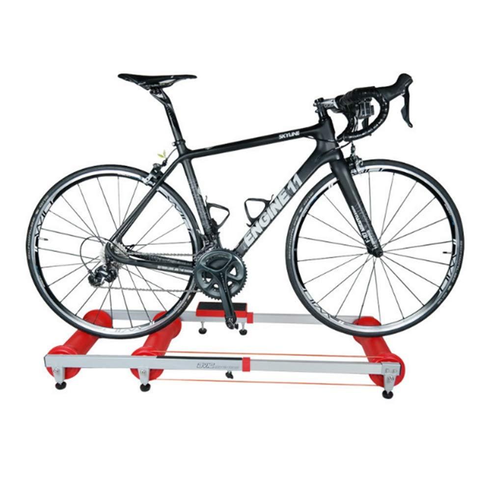 Crystalzhong 自転車 トレーニング ロードマシン スマート バイク トレーナー MTB ロードバイク エクササイズ ステーション 折りたたみ式 屋内 サイクリング ローラー トレーナー 滑らか/静音/ロードのような感触 B07GRJXDNK