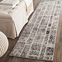 Safavieh Monaco Collection MNC216G Modern Geometric Patchwork Grey and Multi Distressed Runner (22 x 8)