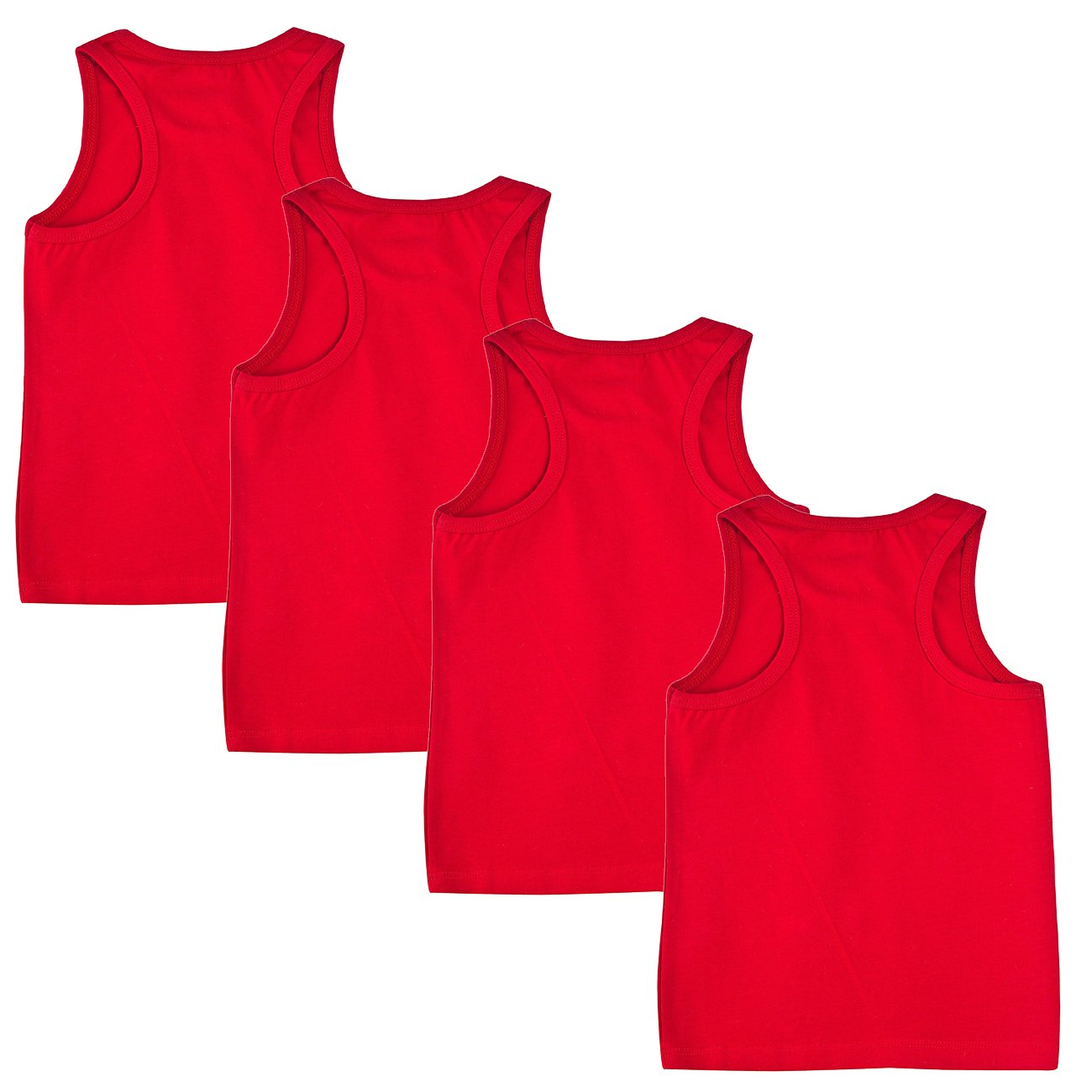 Kids Cotton Tank Top 5 Pk Boys Girls Solid Color Tank Top Children Youth shirts