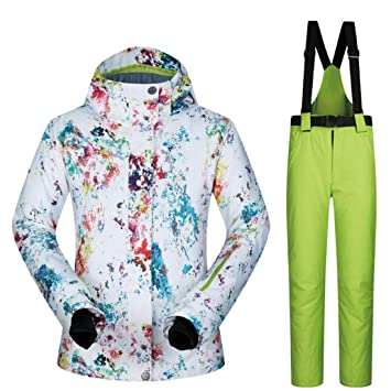 LINAN Chaqueta de esquí Impermeable para Mujer Mountain ...