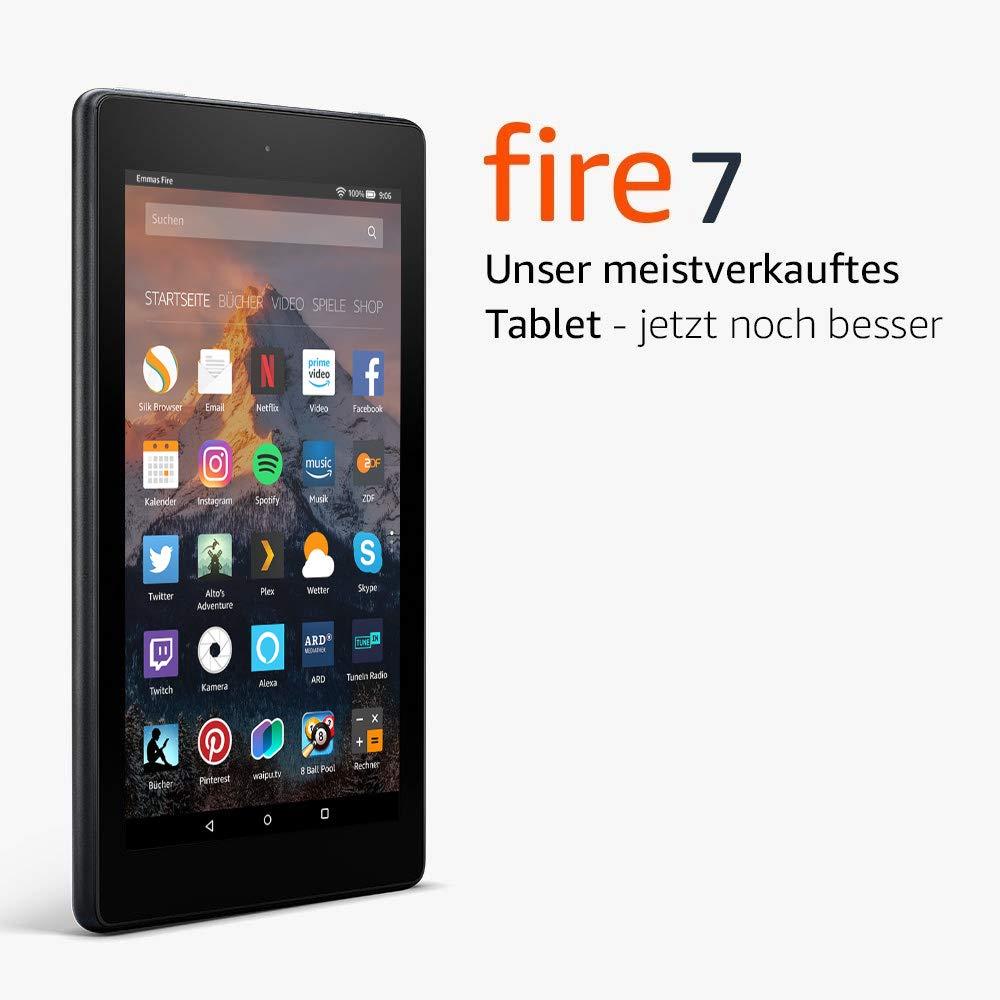 Fire 7-Tablet, 16 GB, Schwarz, mit Spezialangeboten