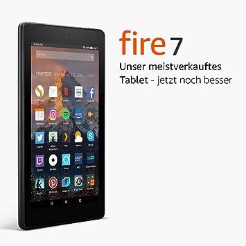 Fire 7-Tablet mit Alexa, 17,7 cm (7 Zoll) Display, 8 GB (Schwarz), mit Spezialangeboten