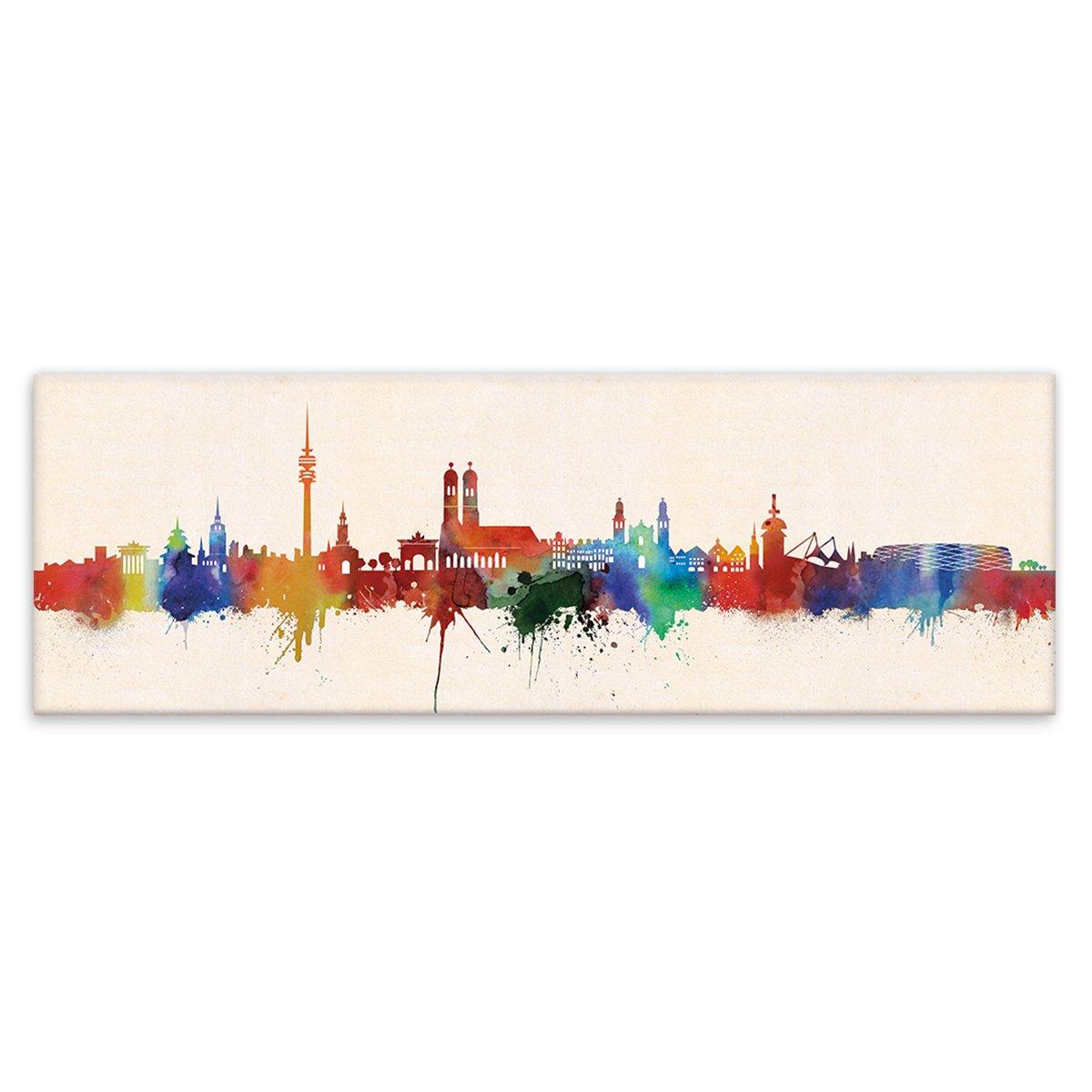 Kunstbruder Skyline Wandbild Wandbild Wandbild Städte Farbe 30x90cm Wolfsburg - Kunst Druck auf Leinwand 625fa2
