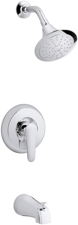 KOHLER K T98006 4 CP July Rite Temp Pressure Balancing Bath/Shower Trim  Set, Polished Chrome   Bathtub And Showerhead Faucet Systems   Amazon.com