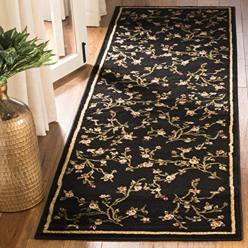 - Safavieh Lyndhurst Collection LNH220A Traditional Floral Black Runner (2'3