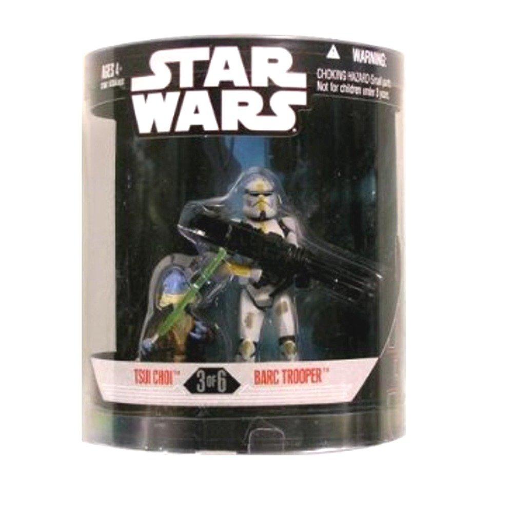 Star Wars Saga 2008 Exclusive Order 66 Action Figure 2-Pack Tsui Choi /& Barc Trooper Hasbro