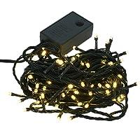 【シャンパンゴールド】イルミネーション LED クリスマスライト 屋外 屋内 100球 点灯パターン記憶メモリー付 連結可