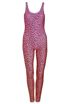 ddfa05a387b31f Leopard Pink Unitard Jumpsuit Catsuit Top Playsuit Womens Animal Print  Tumblr Fashion Tumblr Festival: Amazon.co.uk: Clothing