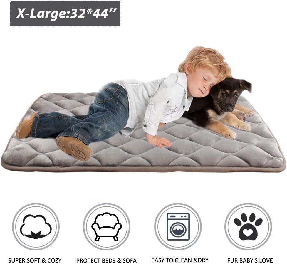 Furrybaby Dog Bed Mat Soft Crate Mat with Anti-Slip Bottom Machine Washable Pet Mattress for Dog Sleeping