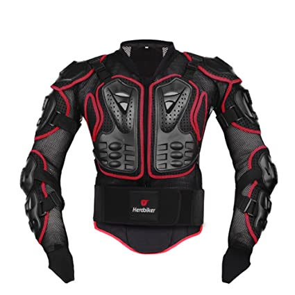 44c69b3ba69ef Amazon.com  HEROBIKER Motorcycle Full Body Armor Jacket spine chest  protection gear Motocross Motos Protector Motorcycle Jacket 2 Styles (M