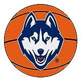FANMATS NCAA University of Connecticut  Huskies Nylon Face Basketball Rug