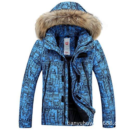 Giacche Uomini Cappotto Blu Scuro Degli Donne Impermeabile Giacca Fym Sci Zip Da Addensato Antivento Caldo Dyf rYx1wCr8q