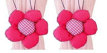 Homgaty 1 Paar Niedliche Blume Form Raffhalter Gardinen Halter Klemme Für  Kinderzimmer Schlafzimmer Mädchen U2013 Sun
