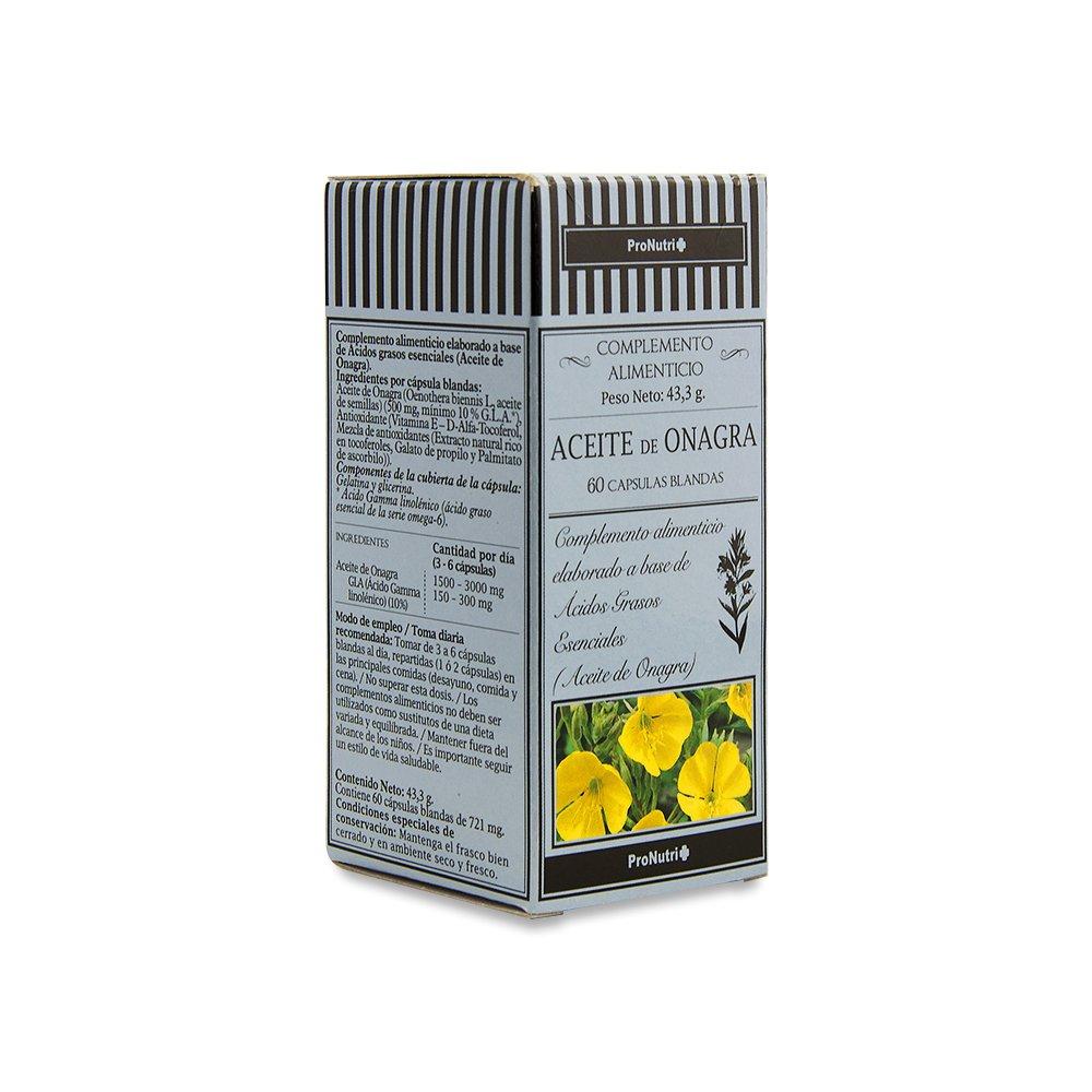 ProNutri Aceite de Onagra - 3 Paquetes de 60 Cápsulas: Amazon.es: Salud y cuidado personal