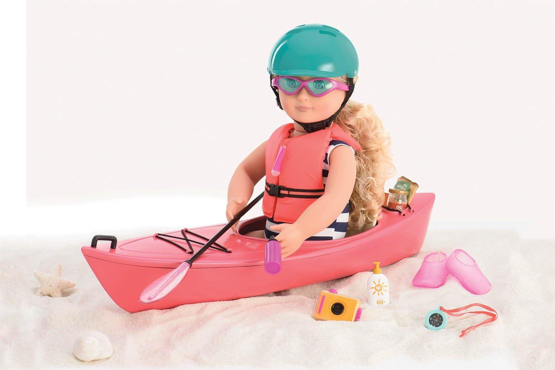 "HELMET Fits American Girl 18/"" Doll KAYAK Outdoor Water Adventure Set LIFE VEST"