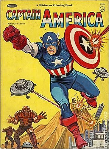 1966 Captain America Coloring Book Whitman: Amazon.com: Books