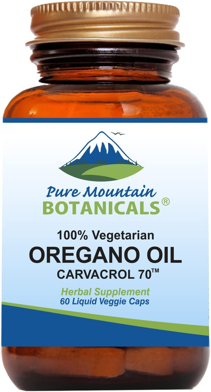 Wild Oregano Oil Capsules - 60 Vegan Caps Now with 510mg Mediterranean Oil of Oregano