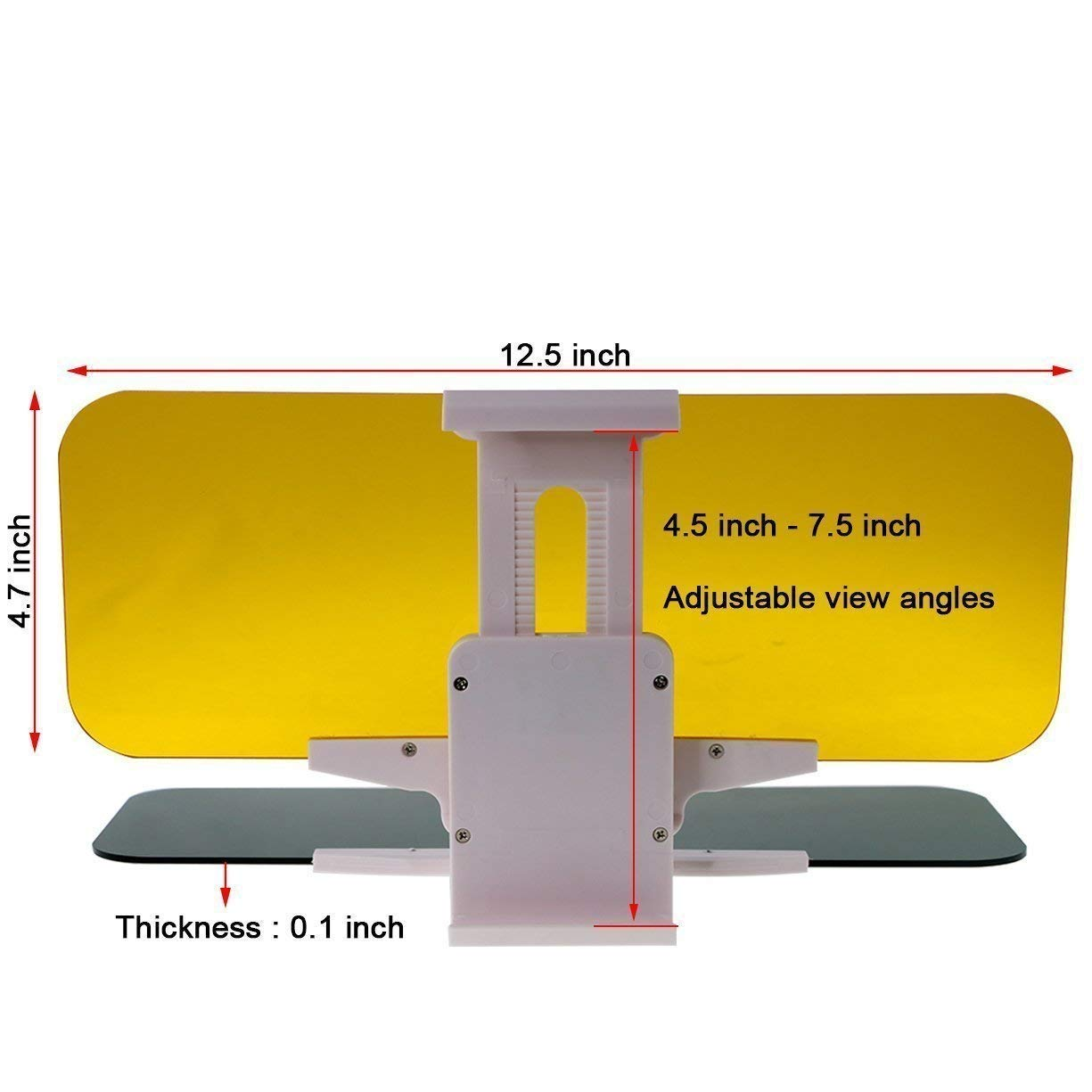 Blocking UV Rays Windshield Driving Visor 2 in 1 Car Sun Visors Transparent Windshiled Glass Yanztech Car Sun Visor Day and Night Vision Anti-Glare Visor