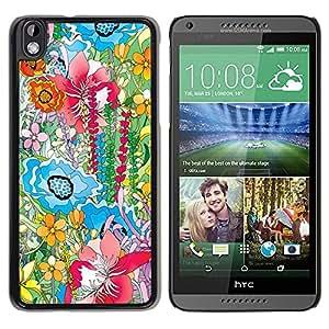 Be Good Phone Accessory // Dura Cáscara cubierta Protectora Caso Carcasa Funda de Protección para HTC DESIRE 816 // Watercolor Painting Summer Field