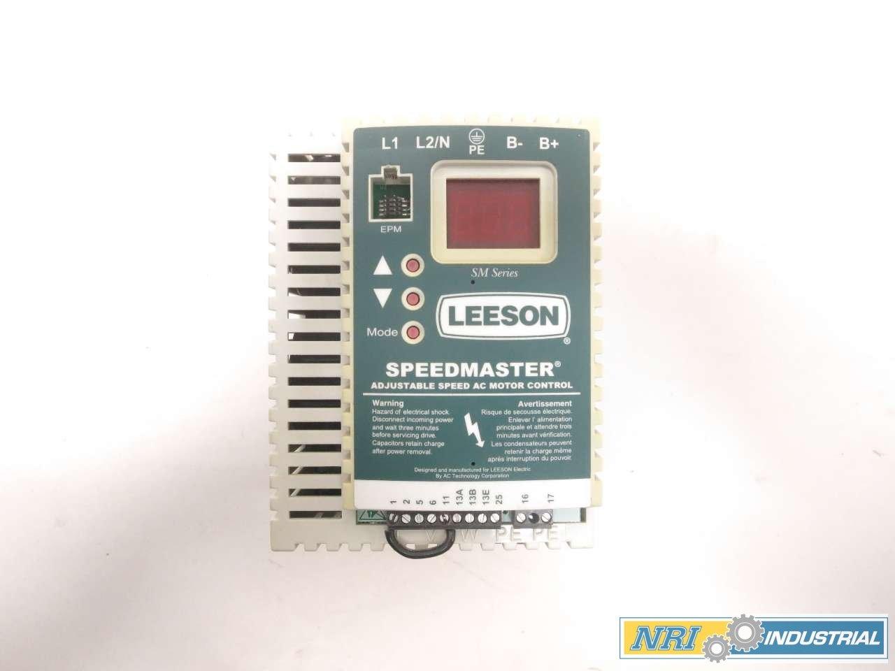 LEESON 174266.00 SPEEDMASTER SM SERIES 1.5HP 0-230V 6A CONTROL DRIVE D518447