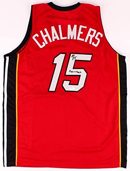 Image Unavailable. Image not available for. Color  Mario Chalmers  Autographed Signed Heat Jersey ... 411df9afb
