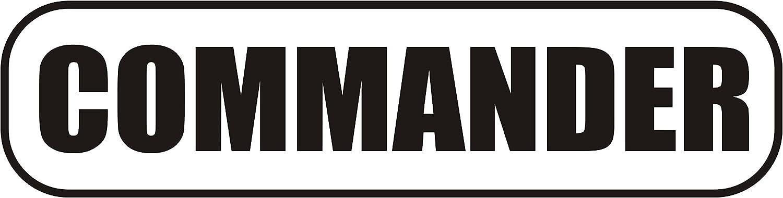 Magnetschild Commander 30 x 8 cm INDIGOS UG Magnetfolie f/ür Auto//LKW//Truck//Baustelle//Firma