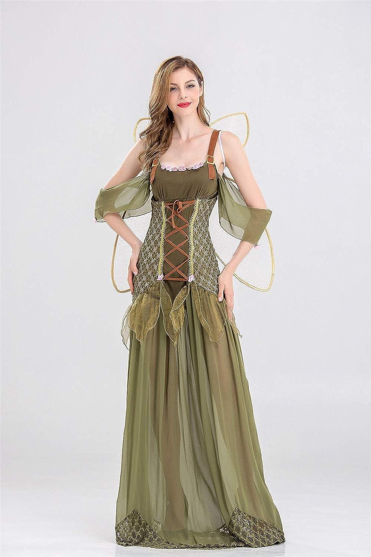 Ruanyi Disfraz de Halloween Adulto Traje de duende de flor verde ...