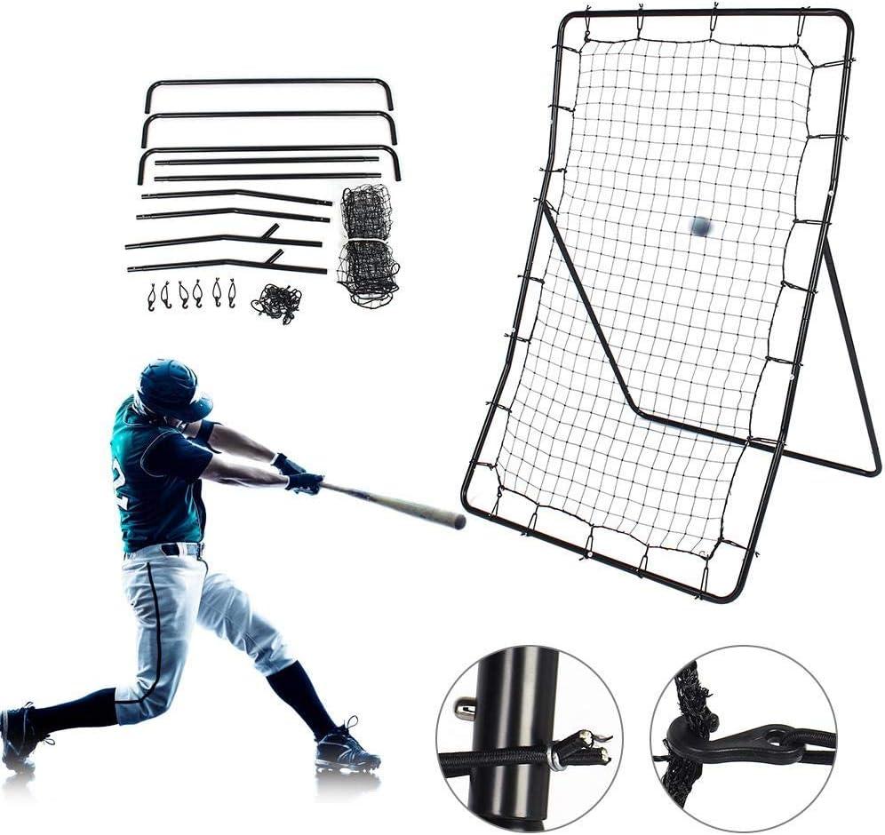 lahomie Baseball Netz Pitching,Trainingsnetz Baseball /Übungsnetz Softball Training Net Hochwertiges Faltbares Baseball-Trainingsnetz Teleskop-Pitching-/Übungsnetz
