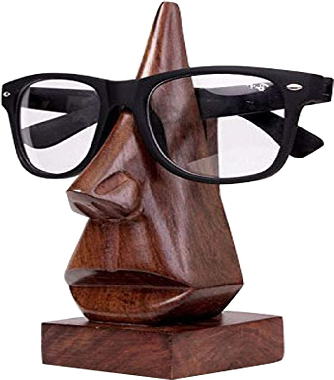 Spectacle Holder for Storage and Presentation Myopia Glasses Suitable for Sunglasses Glasses Display Stand Creative Wood Sunglasses Rack Glasses Stand Can Hold 4 pairs of Glasses Reading Glasses
