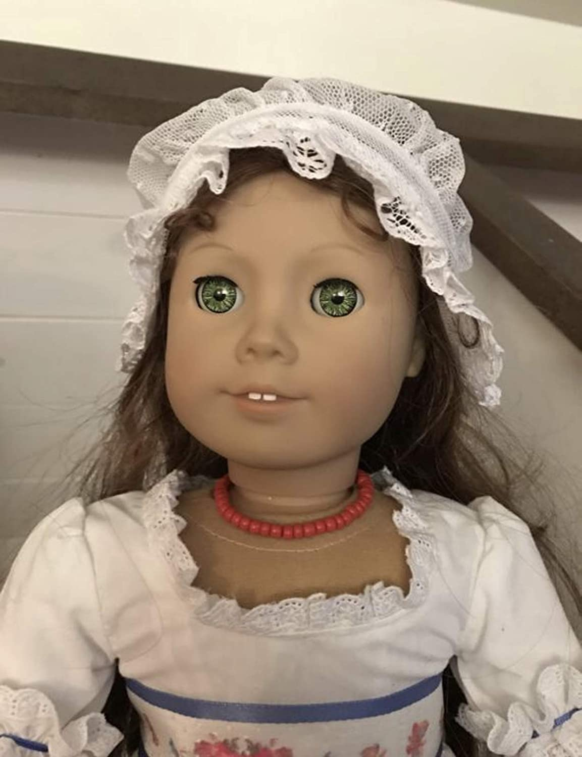 Red Beaded Necklace for 18 inch Dolls