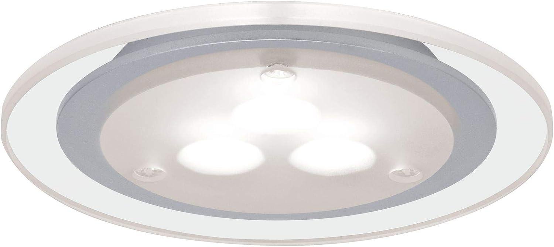 Paulmann 93543 Kit encastrés meuble Deco LED 3x3W, 3000K, 12VA, 230V/350mA, 100mm, Chrome mat/clair/Métal