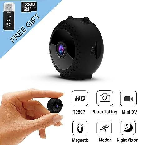 Amazon.com: Mini cámara espía inalámbrica oculta con correa ...