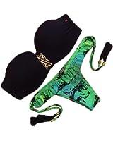 Mingtai bikini costumi da bagno sexy a fascia senza for Costumi piscina due pezzi