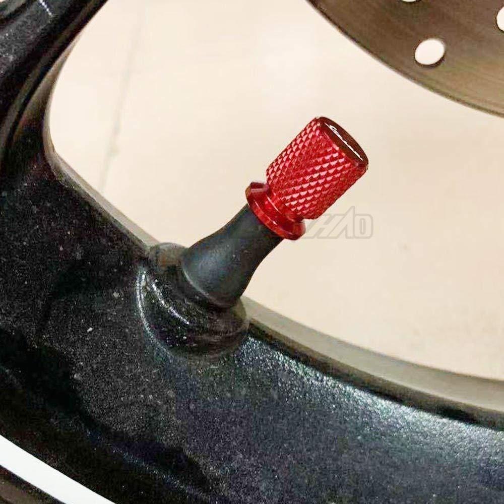 Color : Red RONGLINGXING Parti Powersports CNC in alluminio valvola della gomma Air Port cappuccio del tappo Motociclo Accessori for Piaggio Vespa GTS GTV LX 60 125 250 300 Primavera Sprint
