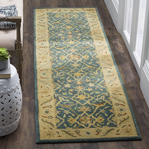 Safavieh Antiquities Collection AT14E Handmade Traditional Oriental Blue Wool Runner (2'3 x 10′)
