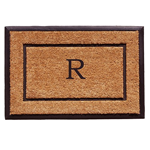 Calloway Mills Home & More 101632436R The General Monogram Doormat, Letter R ()